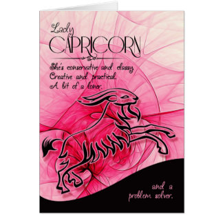 Capricorn Birthday For Her Zodiac Star Sign Greeting Card