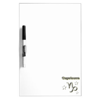 Capricorn chrome symbol dry erase board