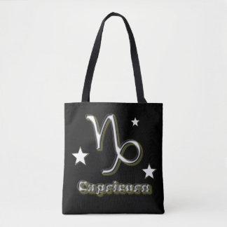 Capricorn chrome symbol tote bag