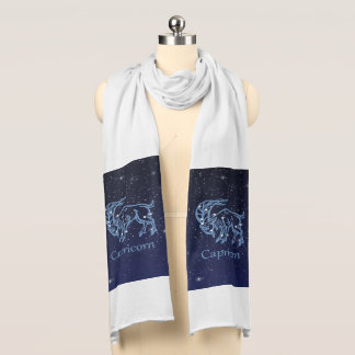Capricorn Constellation and Zodiac Sign with Stars Scarf