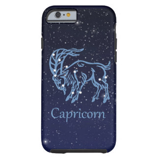 Capricorn Constellation and Zodiac Sign with Stars Tough iPhone 6 Case