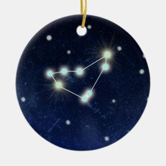 Capricorn Constellation   Custom Name Round Ceramic Decoration