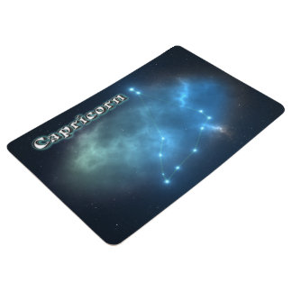 Capricorn constellation floor mat