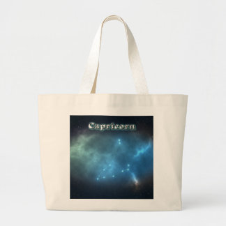 Capricorn constellation large tote bag