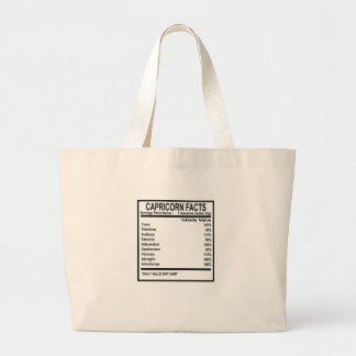 CAPRICORN FACTS DISCRIPTION . LARGE TOTE BAG