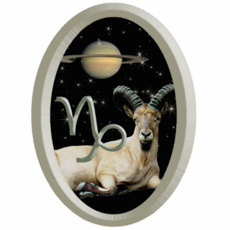 Capricorn Goat Saturn Acrylic Keychain Photo Sculpture Key Ring