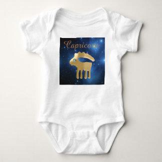 Capricorn golden sign baby bodysuit