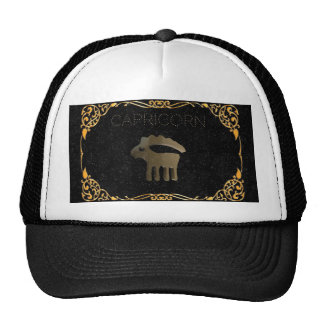 Capricorn golden sign cap