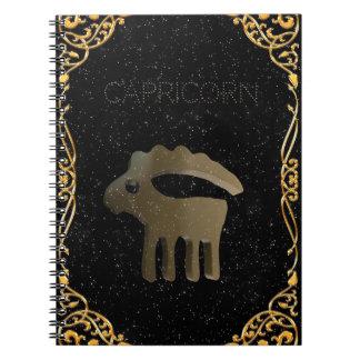 Capricorn golden sign notebooks