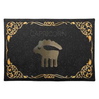 Capricorn golden sign placemat