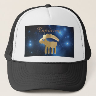 Capricorn golden sign trucker hat