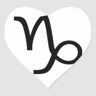 Capricorn Heart Sticker