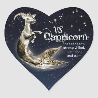 Capricorn Heart Stickers