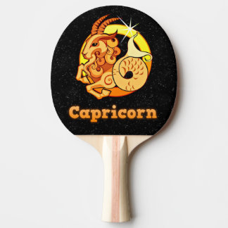 Capricorn illustration ping pong paddle