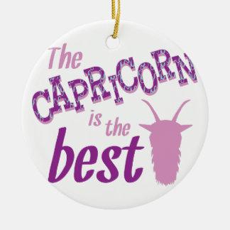 Capricorn Is Best Ceramic Ornament