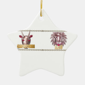 Capricorn Leo friendship Christmas Ornament