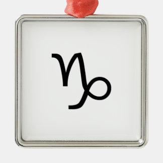 Capricorn Metal Ornament