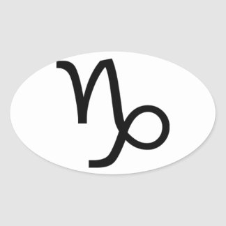 Capricorn Oval Sticker