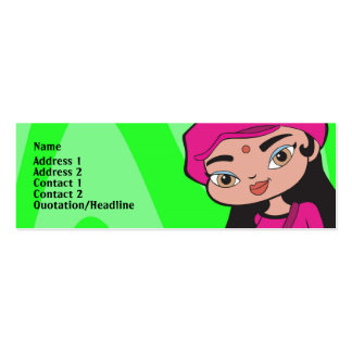 Capricorn Profile Card Pack Of Skinny Business Cards