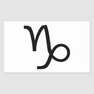 Capricorn Rectangular Sticker