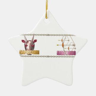 Capricorn Sagittarius friendship Christmas Ornaments