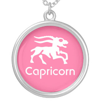 Capricorn Silver Plated Necklace