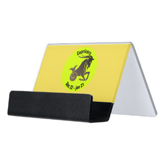 CAPRICORN SYMBOL DESK BUSINESS CARD HOLDER