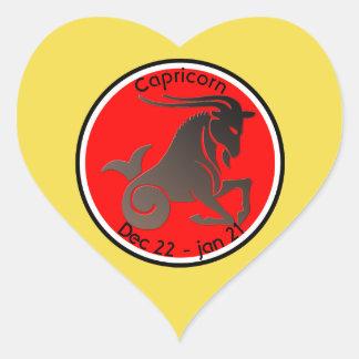 CAPRICORN SYMBOL HEART STICKER