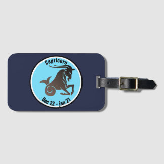 CAPRICORN SYMBOL LUGGAGE TAG