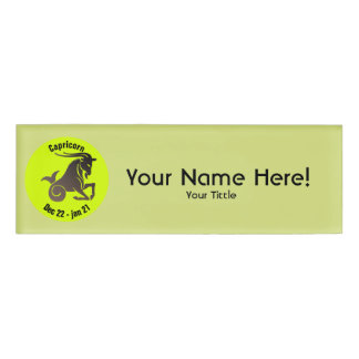 CAPRICORN SYMBOL NAME TAG