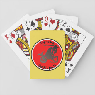 CAPRICORN SYMBOL PLAYING CARDS