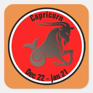 CAPRICORN SYMBOL SQUARE STICKER