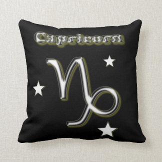 Capricorn symbol throw pillow