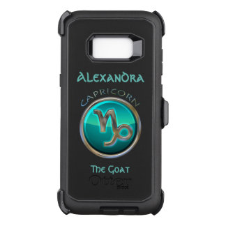 Capricorn - The Goat Horoscope Sign OtterBox Defender Samsung Galaxy S8+ Case