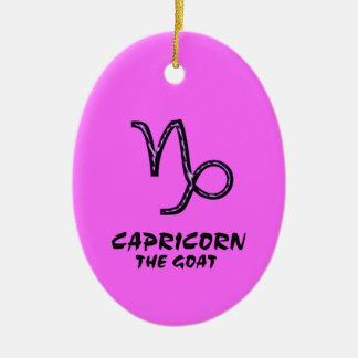Capricorn the goat ornament