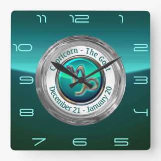Capricorn - The Goat Zodiac Sign Square Wall Clock