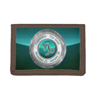 Capricorn - The Goat Zodiac Symbol Trifold Wallet