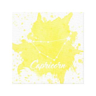 Capricorn Yellow Wall Art