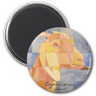 Capricorn Zodiac 6 Cm Round Magnet