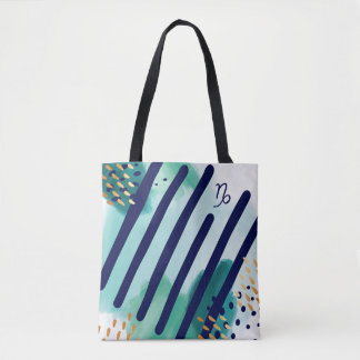 Capricorn Zodiac Abstract Watercolour Tote Bag