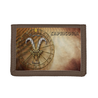 Capricorn Zodiac Astrology design Tri-fold Wallet
