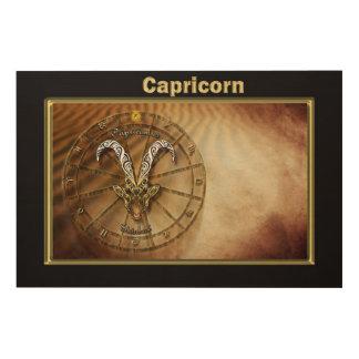 Capricorn Zodiac Astrology design Wood Wall Decor