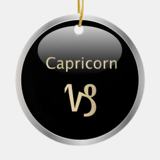 Capricorn zodiac astrology star sign ornament