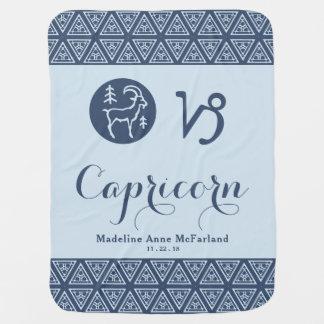 Capricorn Zodiac Baby Blanket