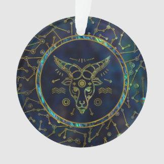 Capricorn Zodiac Gold Abalone on Constellation Ornament