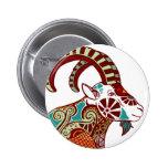 Capricorn Zodiac - Ibex Buttons