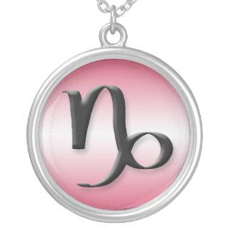 Capricorn Zodiac Light Gradient Pink Necklace