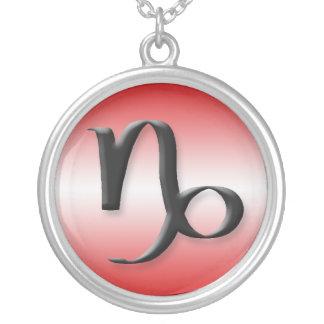 Capricorn Zodiac Light Gradient Red Necklace