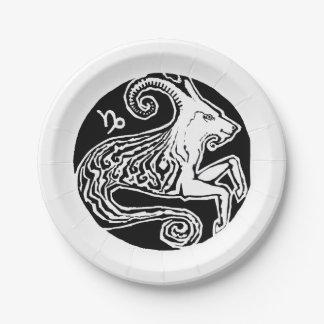 Capricorn - Zodiac Party paper plate