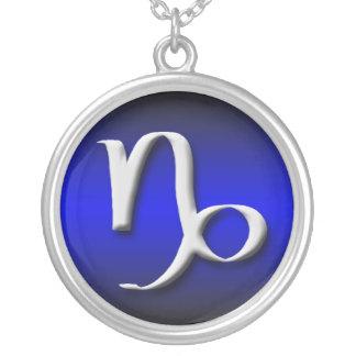Capricorn Zodiac Royal Blue Gradient Necklace